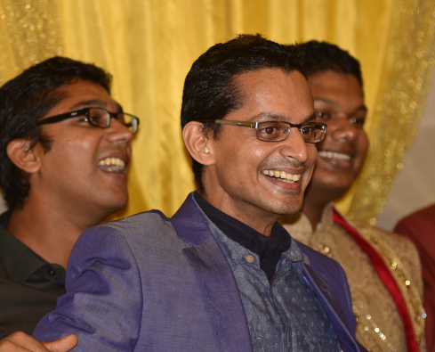 Photo of Shamnad with his younger brothers Nihad and Nihas, during Nihas' wedding in Guwahati